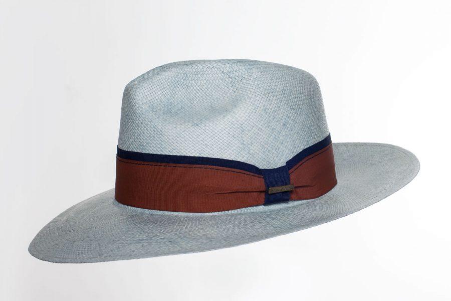 Panama Hat Cavalier Vintage celeste