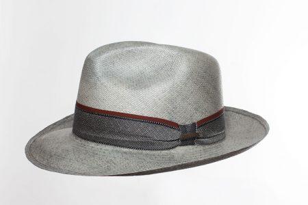 Panama Hat Cavalier vintage gris